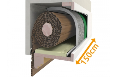 Insulate Box Roller Shutter Kit 150 cm Composition PosaClima Renova