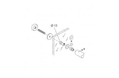 Through Fixing Kit pba 02 for Single Pull Handle for Glass Doors