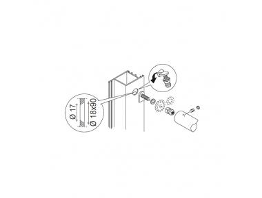 Not Through Fixing Kit pba 03 Single Pull Handle Wooden, Aluminium, Iron Doors