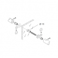 Back to Back Fixing Kit pba 04 for Single Pull Handle for Glass Doors