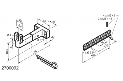 Universal Kit for Fitting Bottom-Hinged Windows WAY Mingardi Micro L