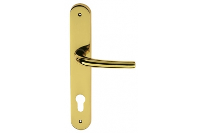 Luna Door Handle on Plate Brass-made Easy Line PFS Pasini