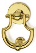 Luxor Ø130 Brass Knocker for Door PFS Pasini