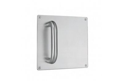 pba 2201 Fixed Pull Handle on Square Plate in Stainless Steel