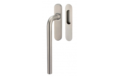 Lift & Slide handle Tropex Oslo in Satin Steel