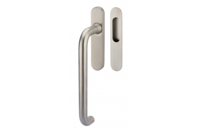 Lift & Slide handle Tropex Stockholm in Satin Steel