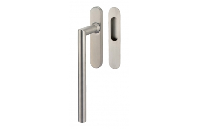 Lift & Slide handle Tropex Toledo in Satin Steel