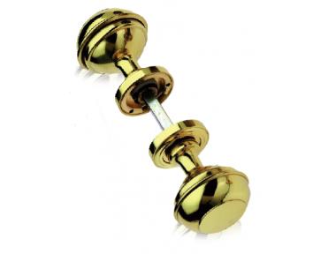Mod 800 Pair of Brass Knobs Ø60 Diameter for Door PFS Pasini