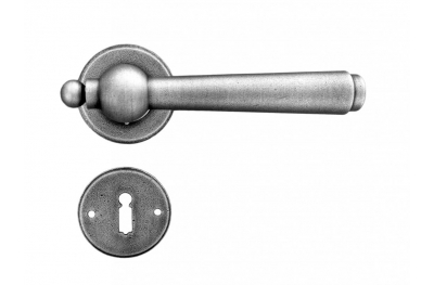 Munich Galbusera Door Handle with Rosette and Escutcheon Plate