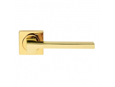 Morphos Light Design Manital Polished Brass Pair of Door Lever Handles