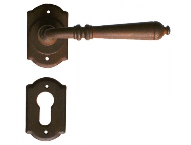 Moscow Galbusera Door Handle with Rosette and Escutcheon Plate