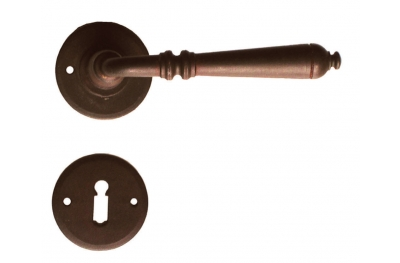 Round Moscow Galbusera Door Handle with Rosette and Escutcheon Plate
