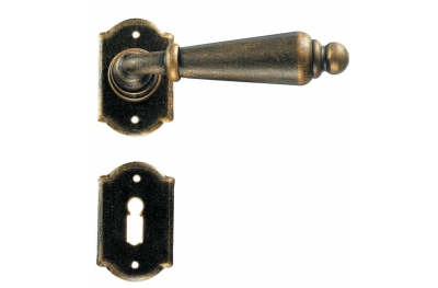 Oslo Galbusera Door Handle with Rosette and Escutcheon Plate