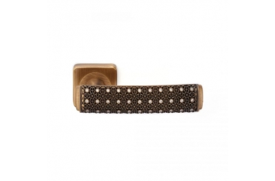 Brass Dream 2 Jewellery PFS Pasini Door Handle with Rose and Escutcheon