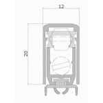 Draft Excluder for Doors Comaglio 1700 Mini Pressure Series Various Sizes