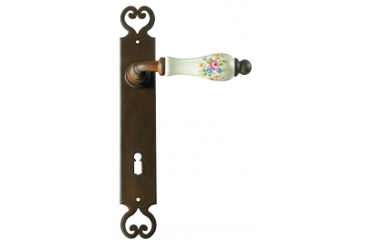 Paris Galbusera Door Handle with Plate