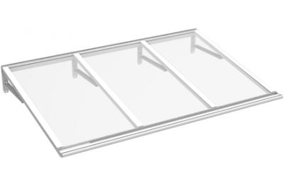 Shelter Lira White Transparent Aluminium AMA Sun Protection