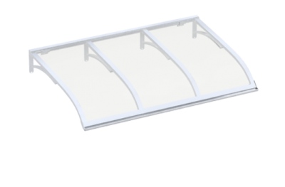 Shelter Vela White Transparent Aluminium AMA Sun Protection