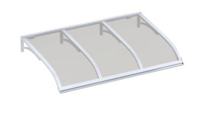 Shelter Vela White Grey Aluminium AMA Sun Protection