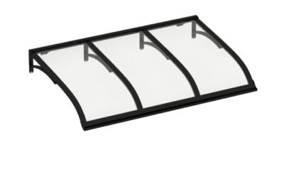 Shelter Vela Black Transparent Aluminium AMA Sun Protection