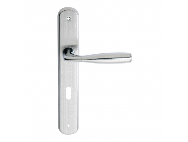 Philip 2 Series Basic forme Door Handle on Regular Plate Frosio Bortolo Ergonomic Shape
