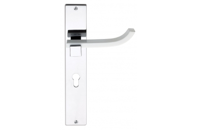 Plus Up Corian White Door Handle on Plate Fashion Line PFS Pasini