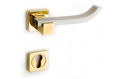 Plus Up Corian White Door Handle on Square Rosette Fashion Line PFS Pasini
