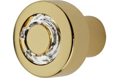 Cabinet Knob Linea Calì Cosmic Crystal OZ with Jet Swarowski®