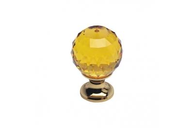 Cabinet Knob Linea Calì Crystal OZ with Swarowski® Topaz