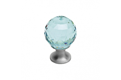 Cabinet Knob Linea Calì Crystal CS with Swarowski® Antique Green