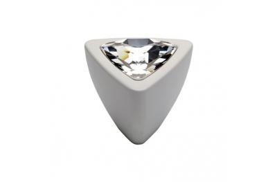 Cabinet Knob Linea Calì Crystal 324 PB BA with Swarowski Matt White