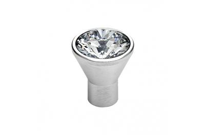 Cabinet Knob Linea Calì Crystal Diamante CS with Swarowski® Satin Chrome