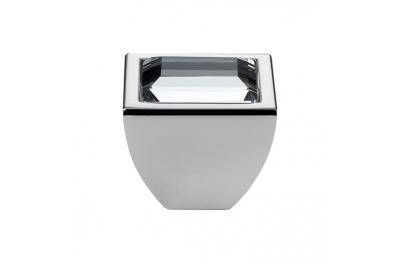 Cabinet Knob Linea Calì Elios Crystal PB with Swarowski® Polished Chrome
