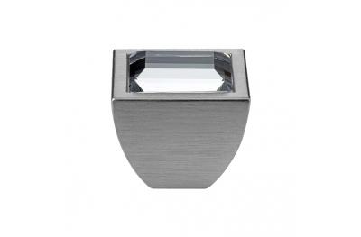 Cabinet Knob Linea Calì Elios Crystal PB with Swarowski® Satin Chrome