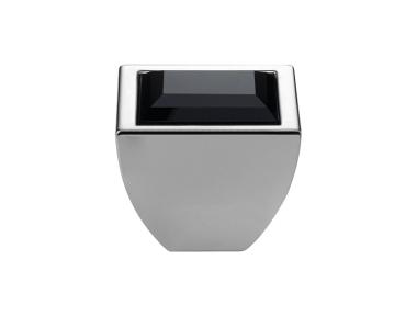 Cabinet Knob Linea Calì Elios Crystal CR with Black Jet Swarowski®