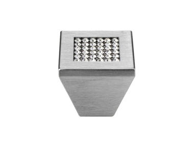 Furniture Knob Linea Calì Mesh Crystal PB with Mesh Swarowski® Satin Chrome