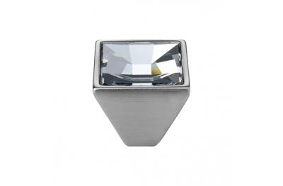 Cabinet Knob Linea Calì Mirror PB with Swarowski® Satin Chrome