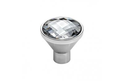Cabinet Knob Linea Calì Veronica PB with Swarowski® Polished Chrome