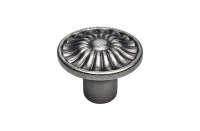 Cabinet Cabinet Knob Linea Calì Crystal Daisy PB in Aged Iron Brass