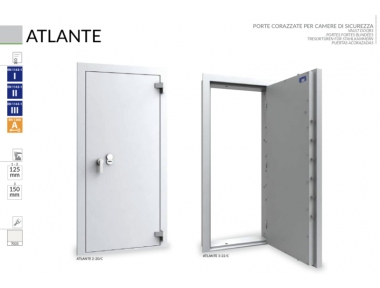 Armored Door for Caveaux and Security Chambers Atlante Bordogna