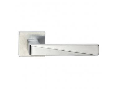 Prisma Series Fashion forme Door Handle on Square Rosette Frosio Bortolo With Particular Cut