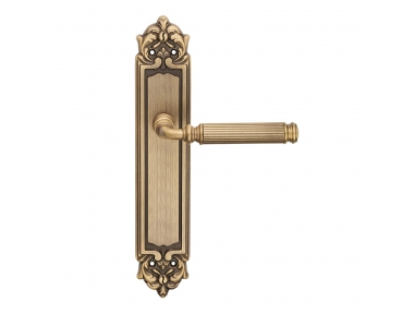 Rania Series Epoque forme Door Handle on Plate Frosio Bortolo Fluted Surface