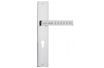 Reflex Door Handle on Plate Linea Calì Crystal