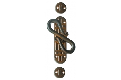 Rome Galbusera Cremone Bolt for External Rod Wrought Iron