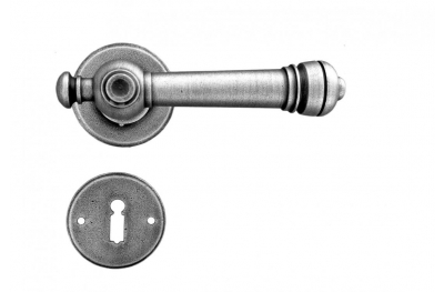 Salzburg Galbusera Door Handle with Rosette and Escutcheon Plate