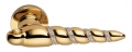 Shell Mesh Gold Plated Door Handle on Rosette Linea Calì Crystal