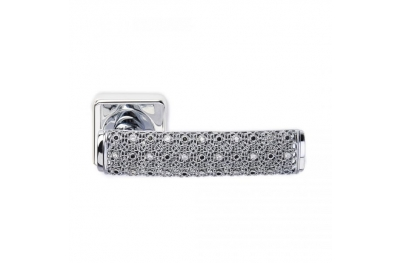 Silver Dream 2 Jewellery PFS Pasini Door Handle with Rose and Escutcheon