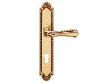 Sissi Door Handle on Plate Linea Calì Vintage