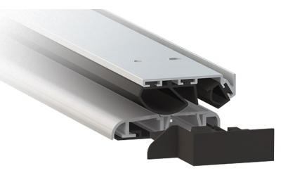 Anodized Silver Aluminium Threshold Comaglio 1375 Series Universal