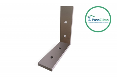 Aluminum Corner Bracket 80x80 mm for Klima Pro Counterframe